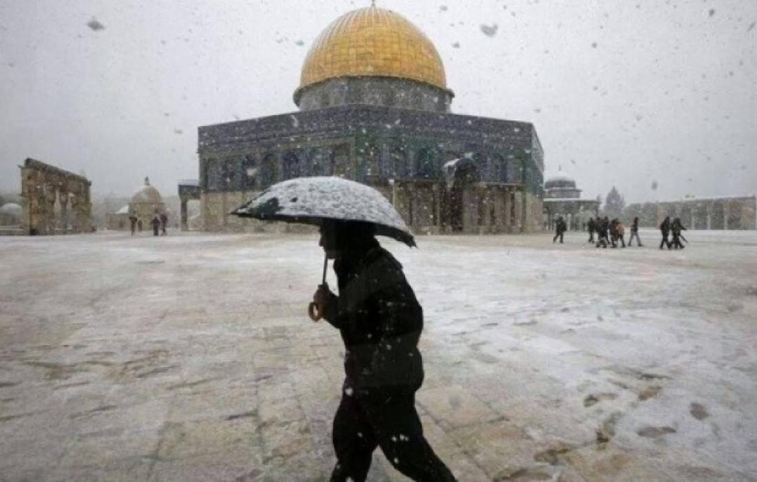 الثلوج في القدس.