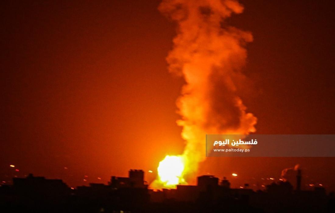 غارات جوية على غزة