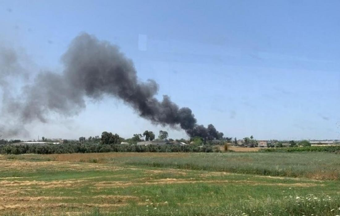 حريق مطار بن غوريون.jpeg