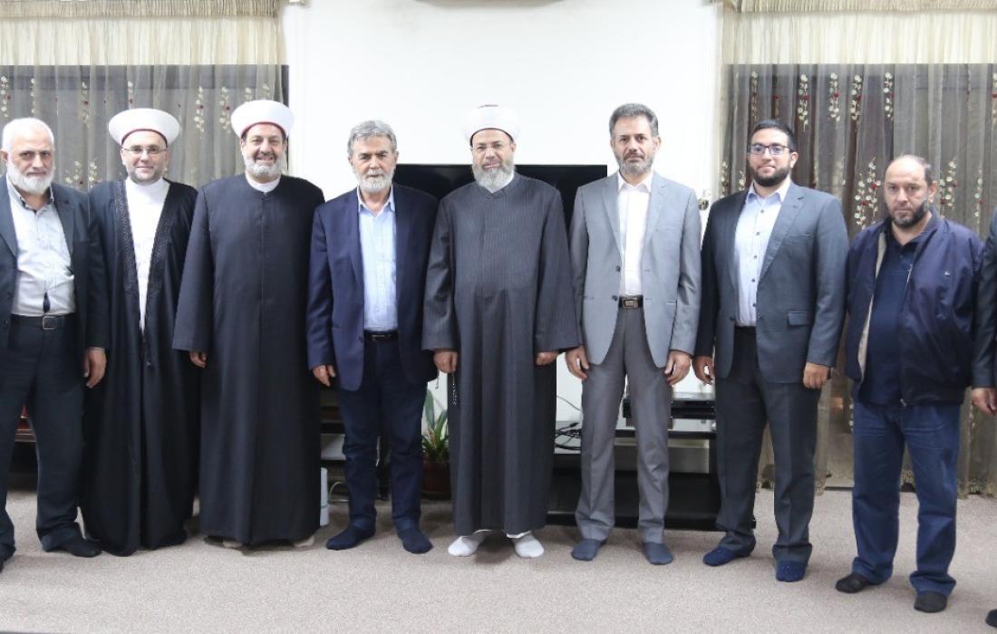القائد النخالة يستقبل وفداً من قيادات الحركة الإسلامية في لبنان.jpg