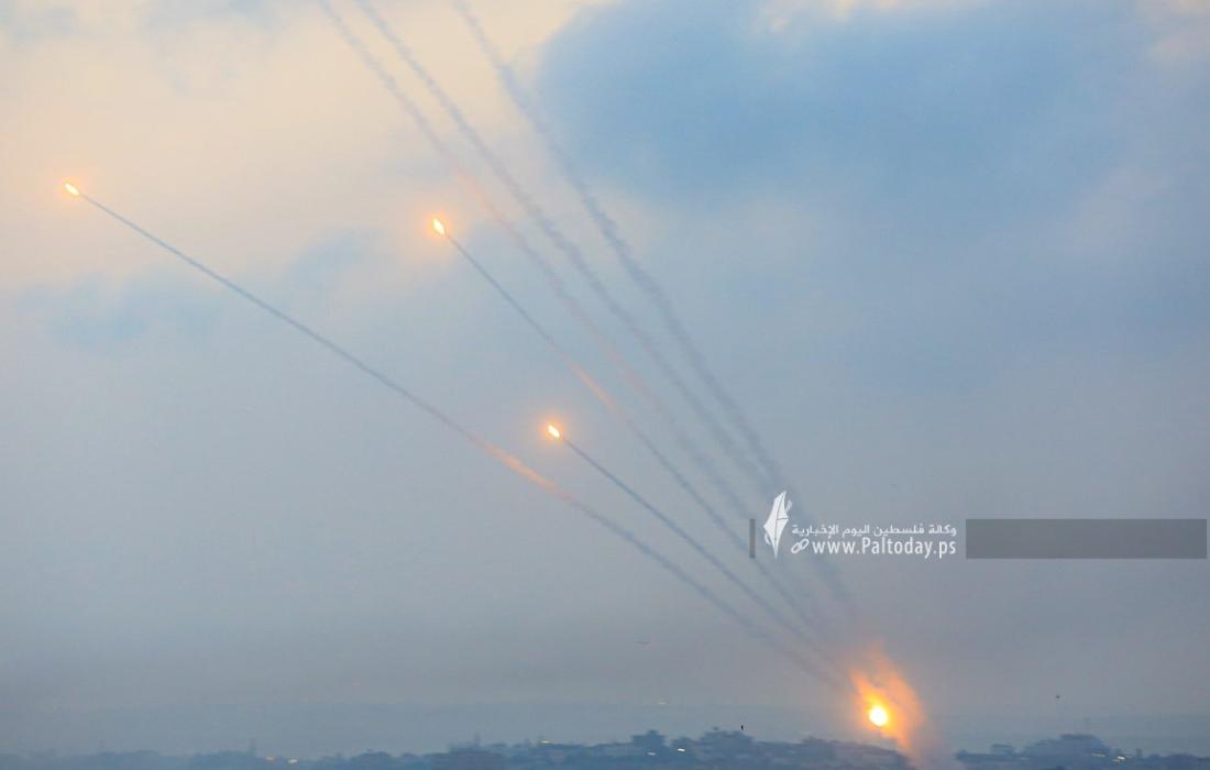 رشقات صواريخ اتجاه مدينة عسقلان (2).JPG