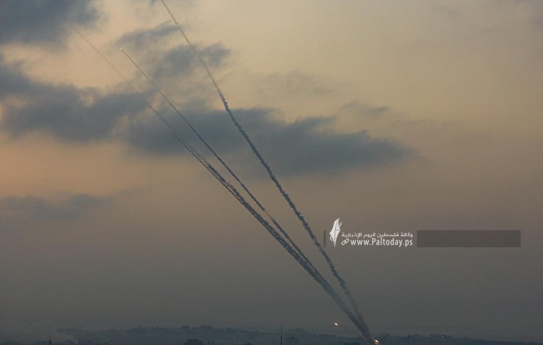رشقات صواريخ اتجاه مدينة عسقلان (13).JPG