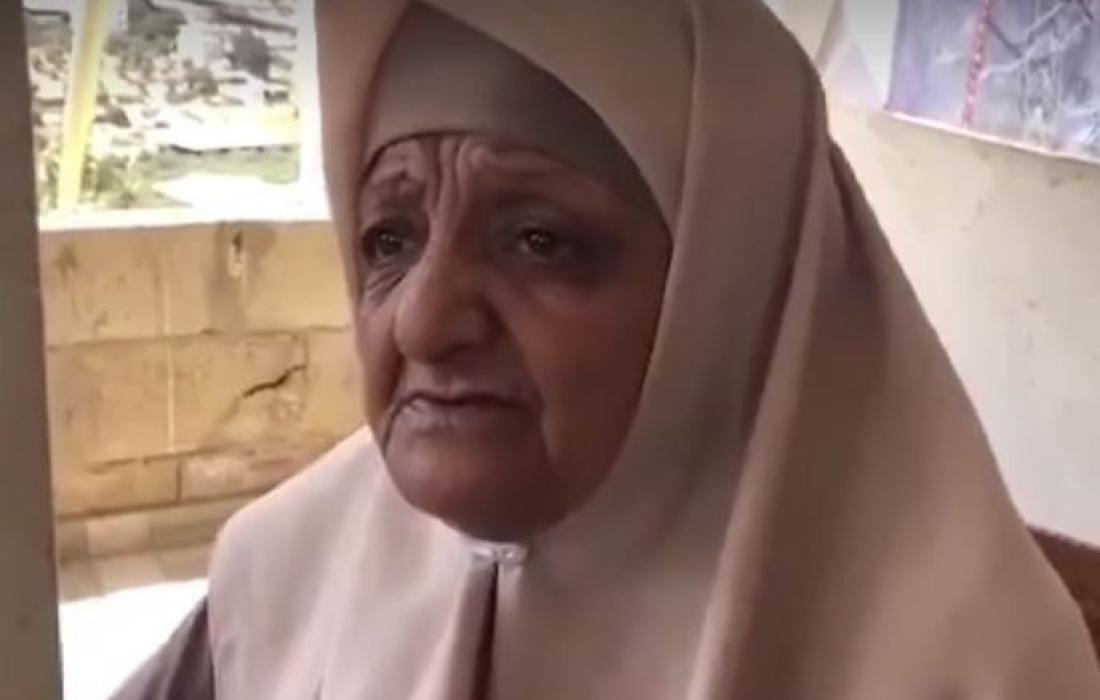 والدة الأسير محمد عارضة.JPG