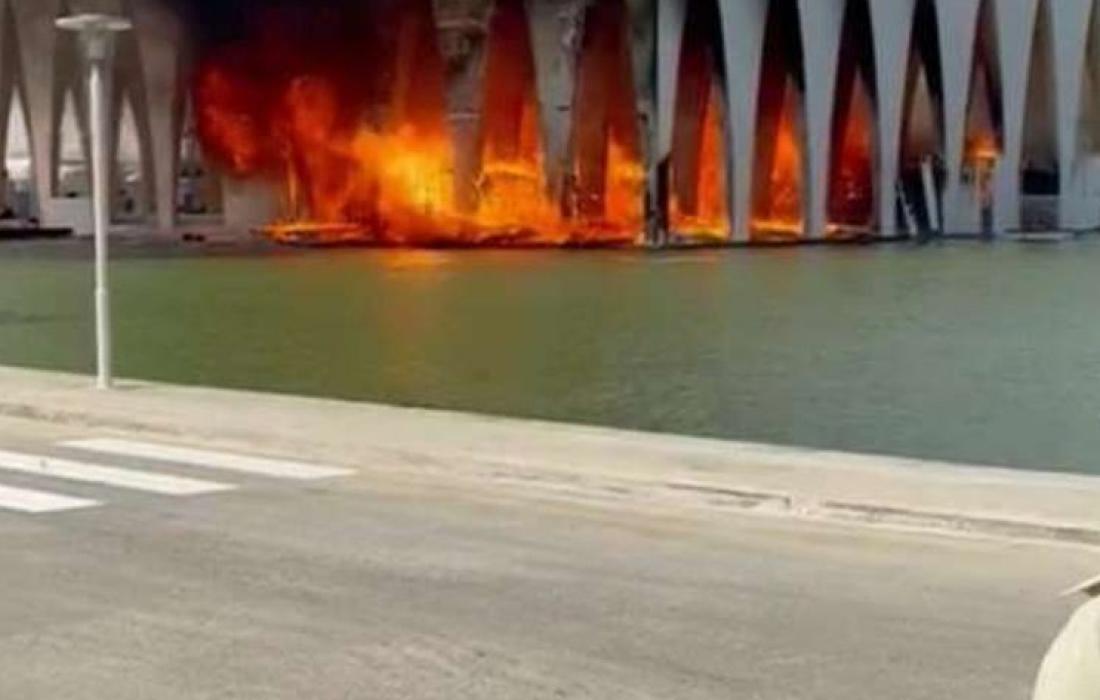حريق هائل في مهرجان الجونة السينمائي بمصر