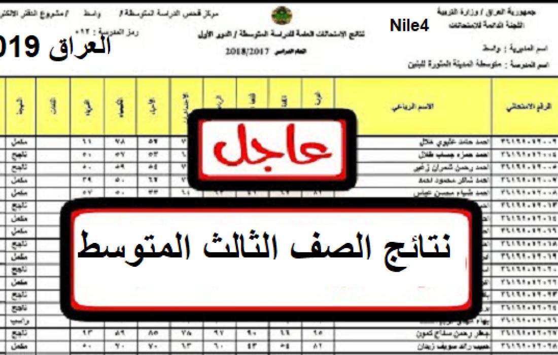 موقع وزارة التربية نتائج الثالث متوسط 2019