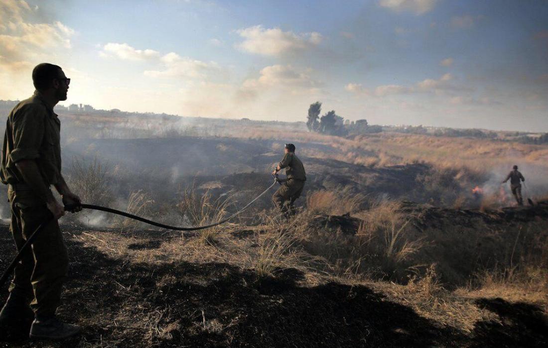حرائق غلاف غزة