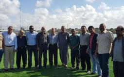 وفد من المجلس الأعلى للشباب والرياضة في غزة