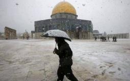 الثلوج في القدس