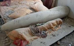 صاروخ اسرائيلي لم ينفجر