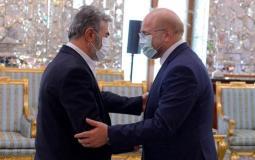 """قاليباف """"للنخالة"""": ايران مستمرة في دعمها للشعب الفلسطيني حتى تحرير القدس الشريف"""