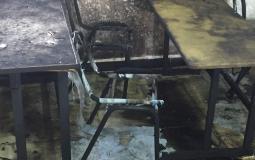 مستوطنون متطرفون يضرمون النيران بمدرسة في مدينة نابلس