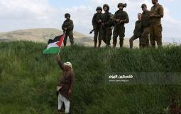 جيش الاحتلال يقمع فعالية زراعة اشجار في سهل البقيعة شرق عاطوف بالاغوار الشمالية (5)