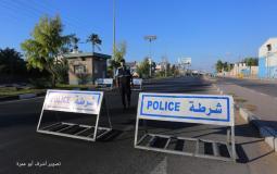 شرطة غزة ضمن احراءات الوقاية من فيروس كورونا