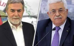 عباس يقدم التعازي من النخالة برحيل د. رمضان شلح