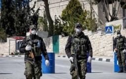 الشرطة الفلسطينية في  مواجهة كورونا