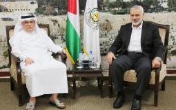 العمادي يلتقي قيادة حركة حماس في غزة