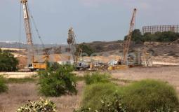 حدود غزة آليات الاحتلال