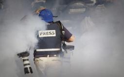 اعتداء قوات الاحتلال على الصحفيين (ارشيف)