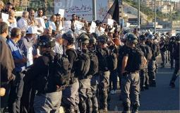 صورة خلال التظاهرة