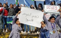 وقفة لأطفال فلسطين اللاجئين