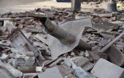 سقوط صاروخ من غزة