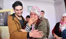 صورة خلال لقاء السيدة التركية بالشاب السوري