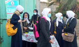 طالبات الرابطة الاسلامية وسط قطاع غزة.jpg