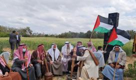 الهيئة الوطنية العليا لمسيرات العودة في قطاع غزة تحيي ذكرى يوم الأرض شرق ملكة (8).jpeg