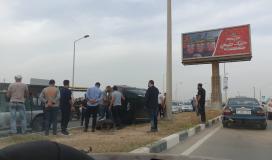 وقع حادث مروري غرب مدينة غزة