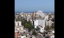 قصف شقة وسط غزة.JPG