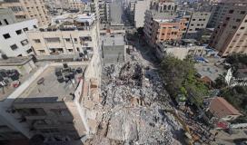 دمار هائل جراء قصف الاحتلال الاسرائيلي على منازل المدنيين بغزة.jpg