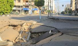 آثار الدمار الذي لحق بمفترق السرايا منتصف مدينة غزة (6).JPG