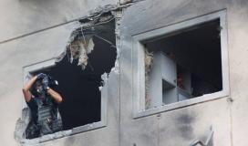 إصابة منازل المستوطنين