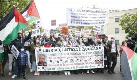 تظاهرة كبيرة في واشنطن لدعم الفلسطينيين في مواجهة عدوان الاحتلال