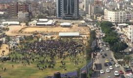 اغلاق محيط ساحة السرايا وسط مدينة غزة والسبب.jpg