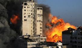 قصف الابراج