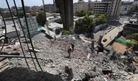 تواصل عملية ازالة ركام المبانى المدمرة بغزة (12).jpeg
