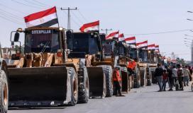 معدات مصرية في غزة.jpeg