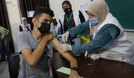 تطعيم طلاب مدارس قطاع غزة الثانوية العامة (6).jpeg