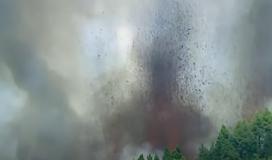 شاهد| بدء ثوران بركان في جزيرة لابالما الإسباني