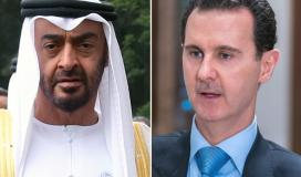 محمد بن زايد ولي عهد أبو ظبي يتلقى اتصالا من الرئيس السوري بشار الأسد.jpeg