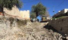 محكمة الاحتلال ترفض التماسا لوقف اعمال التجريف في المقبرة اليوسفية بالقدس