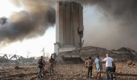 مرفأ #بيروت جراء الانفجار الضخـم (13)