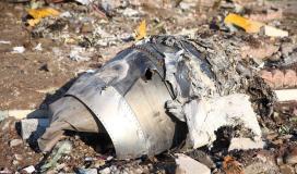 حطام الطائرة الايرانية