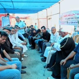 جانب من زيارة قيادة حركة الجهاد الإسلامي لبيت عزاء المرحوم الحاج عطا ساق الله.
