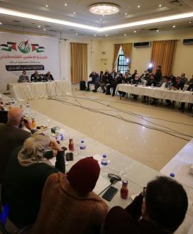 التجمع الاعلامى الفلسطينى ينظم ندوة سياسية للدكتور محمد الهندي بغزة