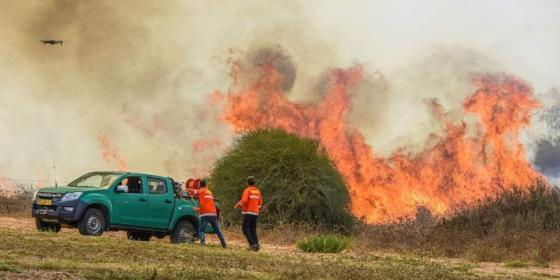 حرائق في غلاف غزة بسبب بالونات حارقة