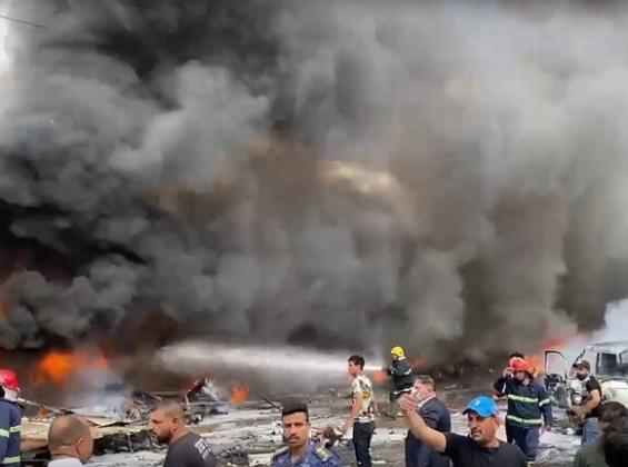 فيديو: قتيل واصابات في انفجار شرق العاصمة العراقية بغداد