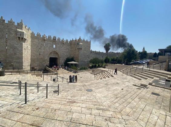 اندلاع حريق داخل البلدة القديمة في القدس المحتلة
